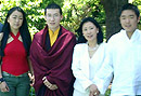 Gyalwa Karmapa meets the royal family of Buthan