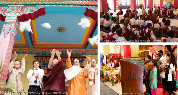 His Holiness Gyalwa Karmapa celebrates the International Day of Peace 2013