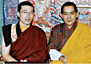 Gyalwa Karmapa and the King of Bhutan