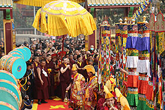 Karmapa at the Kagyu Monlam 2012